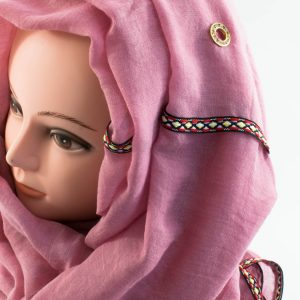 Aztec Ring Hijab Pink 2