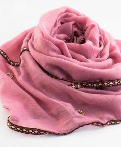 Aztec Ring Hijab Pink