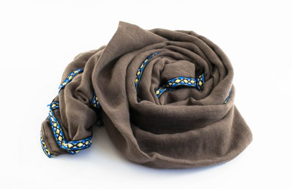 Aztec Ring Hijab Taupe Brown