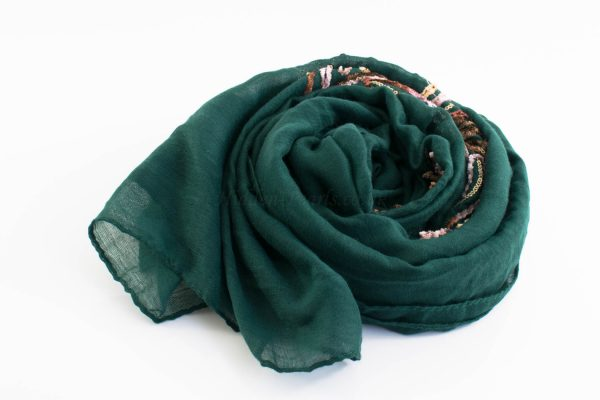 Picasso Velvet Hijab Forest Green 2