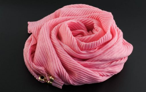 Leather Tassel Hijab - Baby Pink