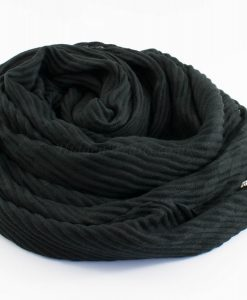 Leather Tassel Hijab Black