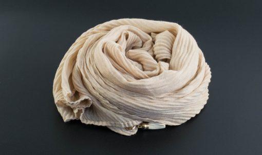 Leather Tassel Hijab Beige