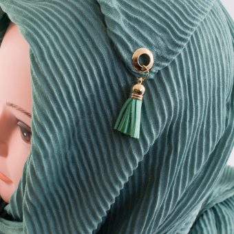 Leather Tassel Hijab Mint 2