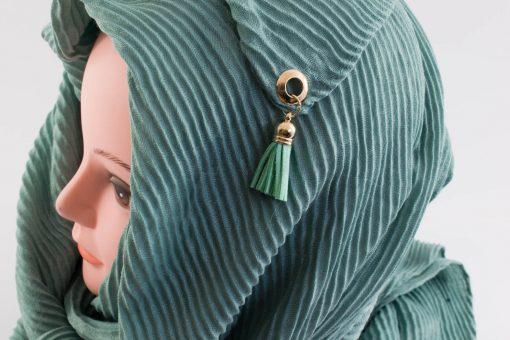 Leather Tassel Hijab Mint 2