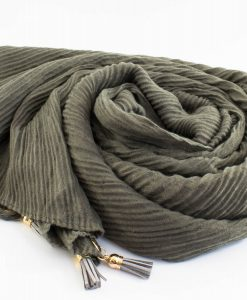 Leather Tassel Hijab Olive