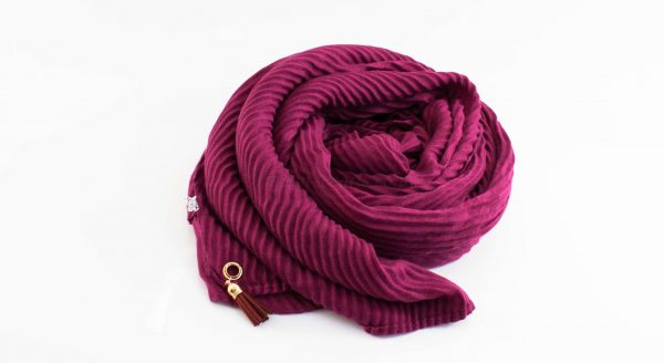 Leather Tassel Hijab Rosewood