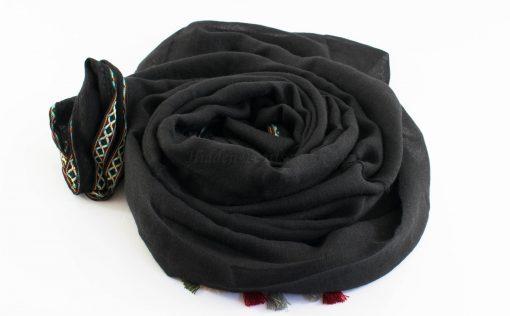 Moroccan Border Hijab Black