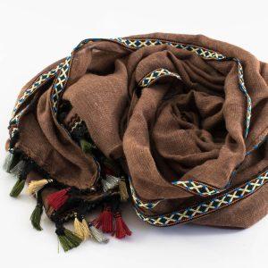 Moroccan Border Hijab Brown
