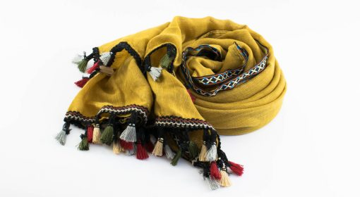 Moroccan Border Hijab Mustard