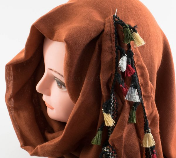 Moroccan Border Hijab Persian Orange 2
