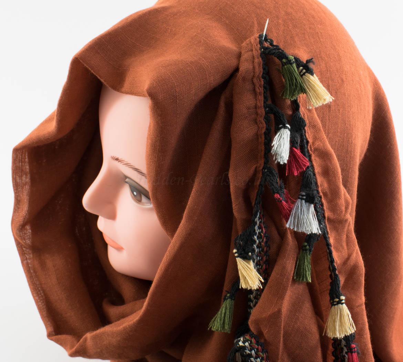 Moroccan Border Hijab Persian Orange 2