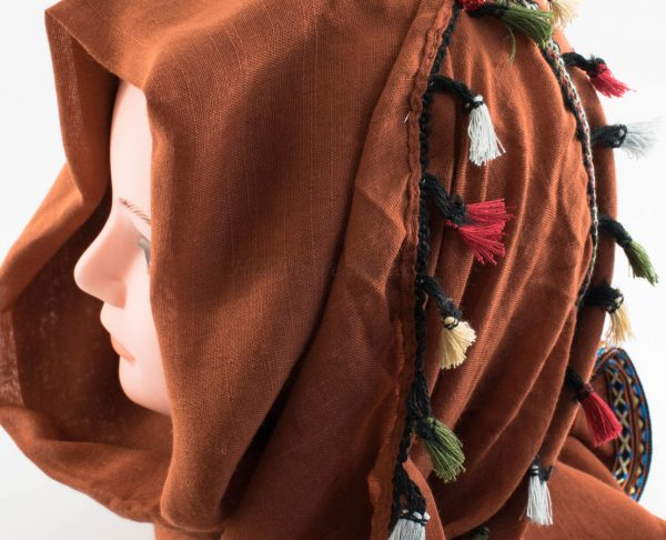 Moroccan Border Hijab Persian Orange 3