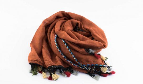 Moroccan Border Hijab Persian Orange