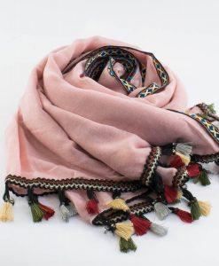 Moroccan Border Hijab Pink