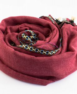 Moroccan Border Hijab Red
