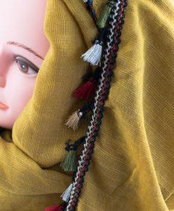 Moroccan Border Hijab mustard 2