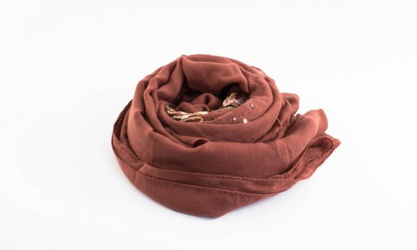 Picasso Velvet Hijab Rust 4