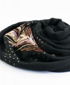 Picasso Velvet Hijab Black