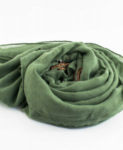 Picasso Velvet Hijab Green