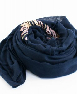 Picasso Velvet Hijab Midnight Blue