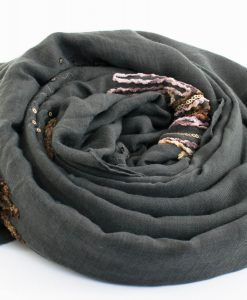 Picasso Velvet Hijab Grey