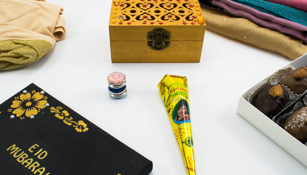 Eid Gift Box With Eid Mubarak Frame
