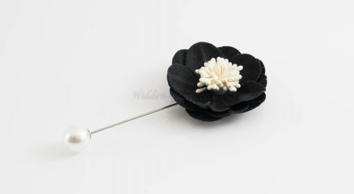 Big Petal Pins - Hidden Pearls -Black