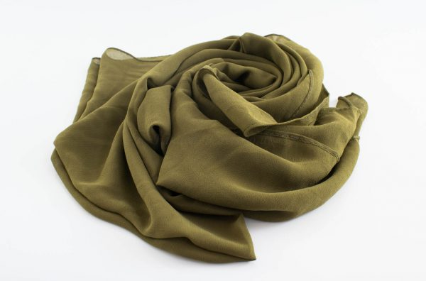 Chiffon Hijabs - Hidden Pearls - Olive
