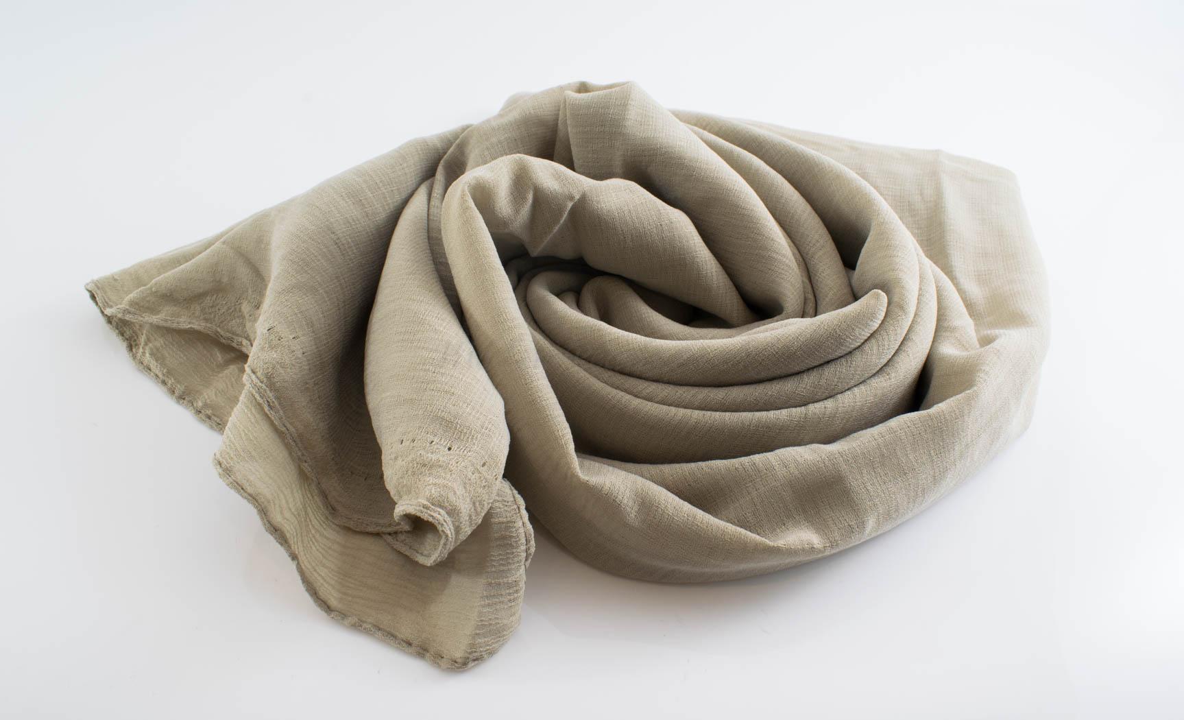 Crepe Chiffon Hijab - Hidden Pearls -Latte
