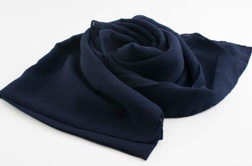 Crepe Chiffon Hijab - Hidden Pearls - Midnight Blue