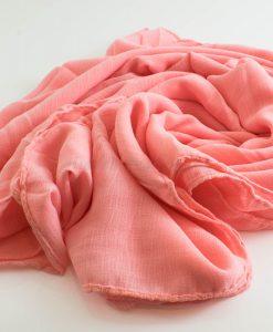 Crepe Chiffon Hijab - Hidden Pearls - Salmon