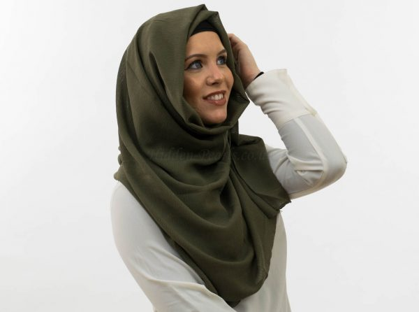 Crepe Hijab - Army Green 11 - Hidden Pearls