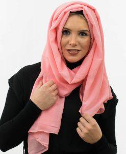 Crepe Hijab - Salmon - Hidden Pearls