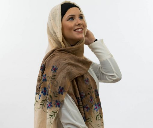 Ombre Hijab embroidery - Hidden Pearls