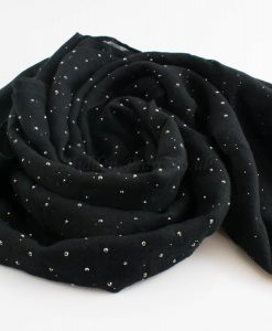 Diamante Hijab - Hidden Pearls - Black