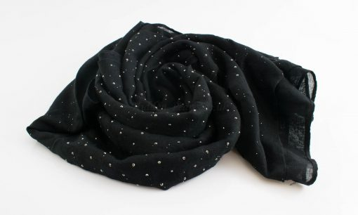 Diamante Hijab - Hidden Pearls - Black