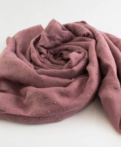 Diamante Hijab - Hidden Pearls - Dusky Rose