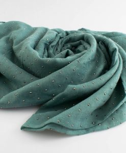 Diamante Hijab - Hidden Pearls - Turquoise