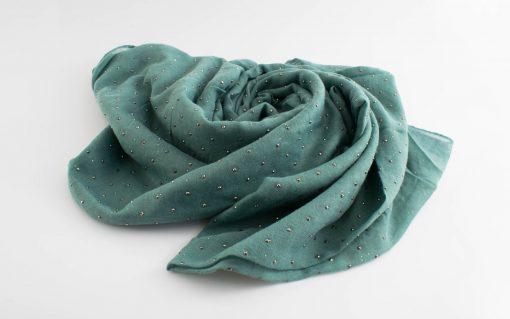 Diamante Hijab - Hidden Pearls - Turquoise