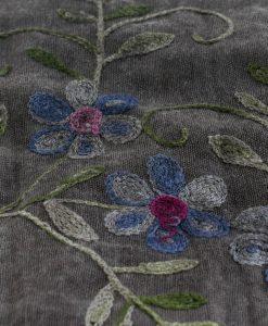 Embroidered Ombre Hijabs - Hidden Pearls -Dark Grey - Grey (2)