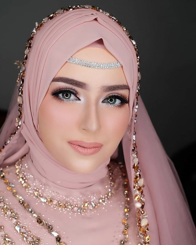 Wedding Bridal Hijab Styling & Makeup