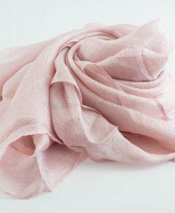 Shimmer SIlk Hijab - Hidden Pearls - Baby Pink