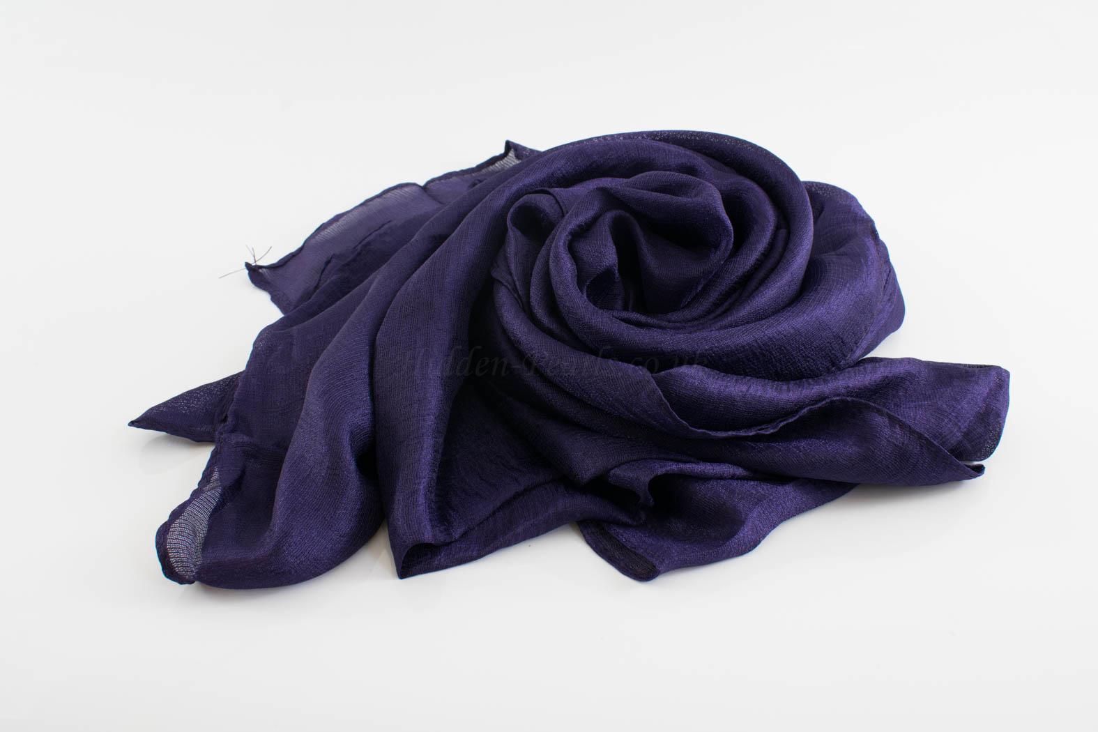 Shimmer SIlk Hijab - Hidden Pearls - Plum