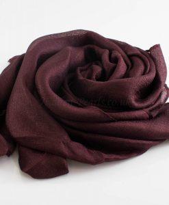 Shimmer SIlk Hijab - Hidden Pearls -Rosewood