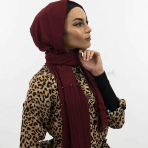 Side Pleat Chiffon Hijab Rosewood
