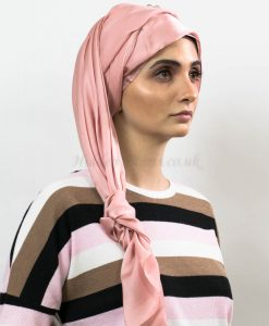 Silk Plain Hijab - Rose Pink - Hidden Pearls