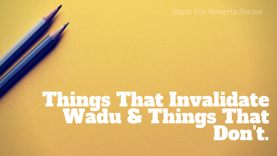 Islam For Reverts - Acts That Invalidate Wadu