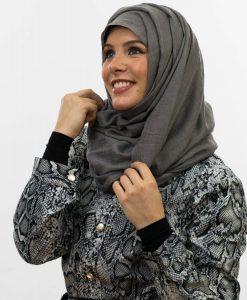 Maxi Plain Hijab - Grey 5 - Hidden Pearls