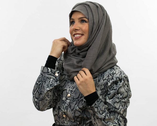Maxi Plain Hijab - Grey 5 - Hidden Pearls